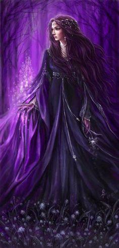 Purple lady, fantasy art