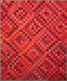 """I finished the Scrappy Red Trips top this week.  Scrappy Red Trips 60"""" x 72"""" It was an experiment to see if ..."""