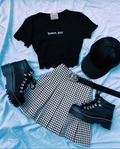 Girls Fashion Clothes, Teen Fashion Outfits, Retro Outfits, Girly Outfits, Cute Casual Outfits, Stylish Outfits, Summer Outfits, Cute Clothes For Girls, Simple Edgy Outfits