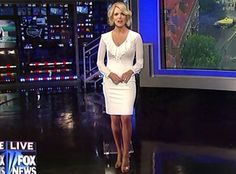 Is Fox News Anchor Megyn Kelly a Sexy Robot? Megyn Kelly, Fox News Anchors, Most Beautiful, Maternity, White Dress, Bodycon Dress, Formal Dresses, Hot, Sexy