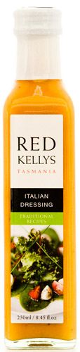 Italian Dressing from Red Kelly's Tasmania. Positively the best Italian Dressing I have ever tried.....will be bringing a carton home with me.