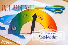 Here it is, as promised! I am sharing a free printable to make it quick and easy to make a self-regulation speedometer. This is one of my favorite activities in the Alert Program. The kids just see… Zones Of Regulation, Emotional Regulation, Self Regulation, Pediatric Occupational Therapy, Pediatric Ot, Coping Skills, Social Skills, Alert Program, Behaviour Management