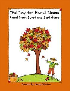 """Fall""ing for Plural Nouns (_s, _es, _ies) Plural Words, Singular And Plural, Spelling Words, 2nd Grade Ela, Second Grade, Teaching Materials, Teaching Ideas, School Fun, School Stuff"