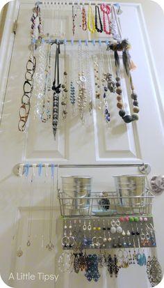 A Little Tipsy: DIY Jewelry Organizer