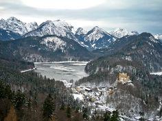 зима, горы, пейзаж