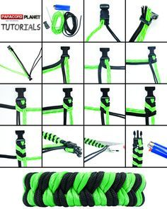 """#ParacordChallenge---Level of Difficulty: Easy!! This week's paracord tutorial is for the """"Double Fishtail Weave."""" Grab some cord, and give it a shot yourself. You will love the way this turns out. Happy Cording."""