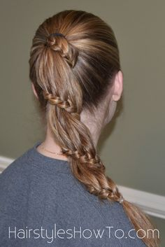 #carouselbraid lace braid ponytail