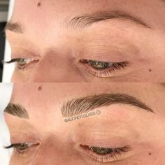 Microblading Eyebrows - Blushing in Hollywood