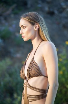 Bronze Dolce Aqua monokini in our silky smooth imported Italian fabric.  Love this suit!