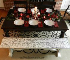Paint a bench, then write memories on it with a paint pen.