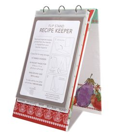 Another great find on #zulily! Alfresco Recipe Keeper Flip Stand by C.R. Gibson #zulilyfinds