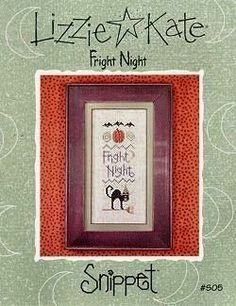 Lizzie Kate Fright Night - another one for my grandson, Brian stitched in 2010