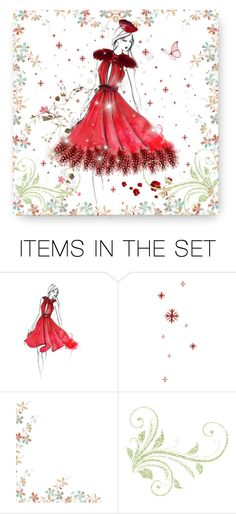 """""""Feather Dress"""" by magnolialily-prints ❤ liked on Polyvore featuring art"""