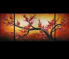 Art Prints On Canvas Contemporary Art Cherry Blossom Prints On Canvas