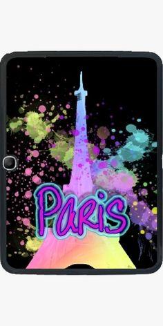 Case for Samsung Galaxy Tab 3 - 10 inch - Paris Eiffel Tower Rainbow - by Blingiton