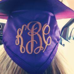 Graduation cap monogrammed