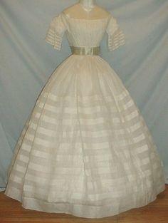 Gossamer 1860's White Cotton Dress