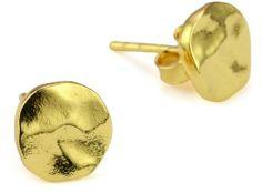 "gorjana ""Chloe"" Gold-Tone Small Irregular Disc Stud Earrings gorjana, http://www.amazon.com/dp/B0040SYTLE/ref=cm_sw_r_pi_dp_D81Pqb1ZGNRJ3"