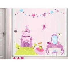 Decoloopio.com – Kit Stickers : Princesse : Cet ensemble de stickers Princesse sera parfait pour  composer  un véritable univers à prix  préférentiel ! . Idéal pour décorer la chambre de votre enfant – Stickers en Soldes