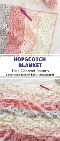 Crochet Afghans 734086807994107903 - Hopscotch Blanket Free Crochet Pattern Source by Crochet Afghans, Crochet Motifs, Baby Blanket Crochet, Crochet Blankets, Baby Blankets, Crochet Gratis, Free Crochet, Knit Crochet, Easy Knitting Projects