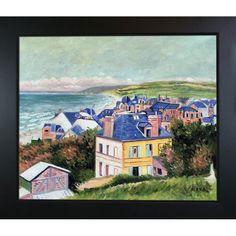 La Pastiche Gustave Caillebotte Villas du Mer Hand Painted Framed Art