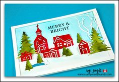 Hearts Come Home Little Red Village Card -