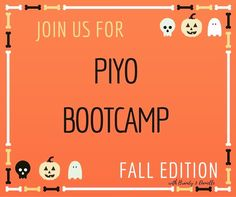 BOO Send me a message or comment below and I will send you some info on our next PiYo BootCamp starting 9/26.  PiYo is soooo good for your body no to low impact and you will feel great doing it. Seriously. I love the format I love the program I love teaching it. I can't say enough about PiYo!  Get in touch with me.