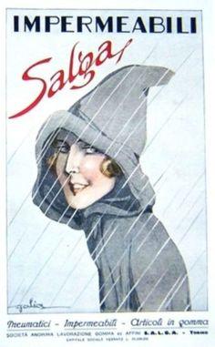 Impermeabili Salga - Bozzetto di Golia Eugenio Colmo - 1921