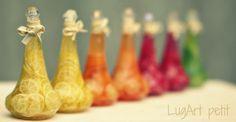 Decorative bottle with sliced fruit by LugartPetit on Etsy