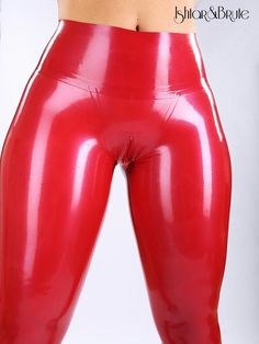 Ishtar and Brute cheeks legging in red latex 2