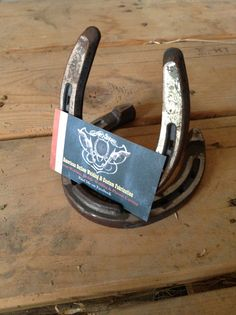 Horse shoe business card holders. Check out American Outlaw Welding & Custom Fabrication on Facebook.