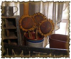 Free Primitive Star Quilt Pattern | primitive grungy sunflowers epattern vendor peach bottom primitives