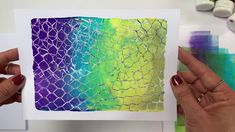 Printing with Gelli Arts®: Recycle! Cardboard Printing with Gelli Arts® by Birgit Koopsen Backgrounds Girly, Gelli Plate Printing, Gelli Arts, Recycled Art, Mail Art, Fabric Painting, Craft Tutorials, Art Lessons, Screen Printing