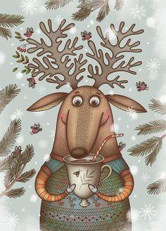 Просмотреть иллюстрацию Какао из сообщества русскоязычных художников автора Лиза Сухно в стилях: Анимационный, Детский, нарисованная техниками: Растровая (цифровая) графика.
