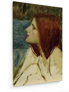 John William Waterhouse - Head of a Girl #John #William #Waterhouse #weewado #art #painting #photography
