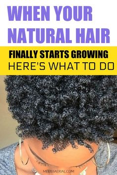 What to do when your natural hair starts growing? You will want to take these first crucial steps Natural Hair Growth Tips, Natural Hair Types, Natural Hair Updo, Updo Styles, Long Hair Styles, How To Grow Your Hair Faster, Hair Starting, Hair Regimen, Grow Hair