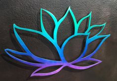 Tri-Colored Lotus Flower Metal Wall Art Metal by INSPIREMEtals