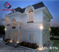 Mẫu+thiết+kế+biệt+thự+2+tầng+phong+cách+bán+cổ+điển+đẹp