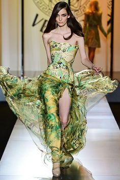 Katy Perry Camo  Versace Fall 2012 Couture