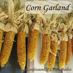 How to Make a Dried Corn Garland for autumn decoration