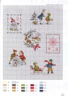 "Photo from album ""la magie de noel"" on Yandex. Cross Stitch Christmas Ornaments, Xmas Cross Stitch, Christmas Cross, Cross Stitch Charts, Cross Stitch Designs, Cross Stitching, Cross Stitch Embroidery, Cross Stitch Patterns, Christmas Embroidery Patterns"