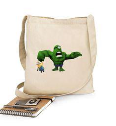 Bolso Minion Hulk http://www.latostadora.com/emcmasquecamisetas #minions #comic #camisetas