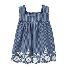 Adorable babyGap chambray tunic for babies. Pair with leggings or just super cute bloomers.