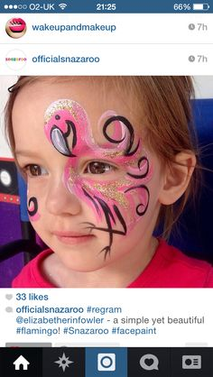 Flamingo facepaint More