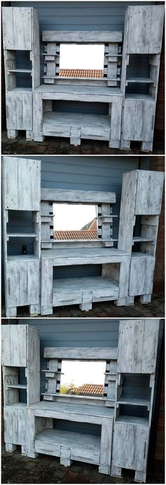Read more about Upcycling Pallets - Pallet Wood Projects Wooden Pallet Furniture, Wooden Pallets, Rustic Furniture, Furniture Storage, Furniture Ideas, Industrial Furniture, Unique Furniture, Pallet Wood, Bedroom Furniture