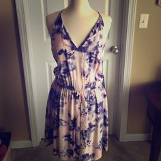 Dress Purple and pink dress. Brand new with tags. Perfect for spring and summer! Simply Vera Vera Wang Dresses