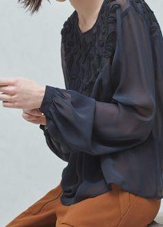 Шифоновая блузка с бисером