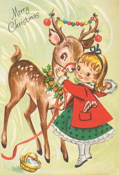 Vintage christmas deer xmas cards 26 Ideas for 2019 Vintage Christmas Images, Old Fashioned Christmas, Christmas Scenes, Christmas Deer, Retro Christmas, Vintage Holiday, Christmas Pictures, Christmas Card Images, Antique Christmas