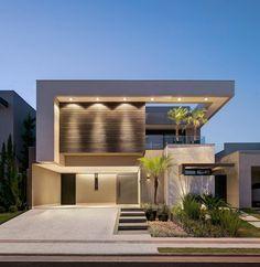 Modern Exterior House Designs, Dream House Exterior, Modern House Plans, Cool House Designs, Modern House Design, Facade Design, Villa Design, Architecture Design, Bungalow House Design