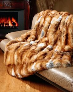 red fox fur blanket..just beautiful to lay on...mmmhh..I would sleep beautifully...